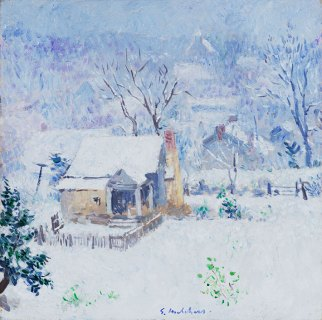 Cottage in the Snow by Gari Melchers