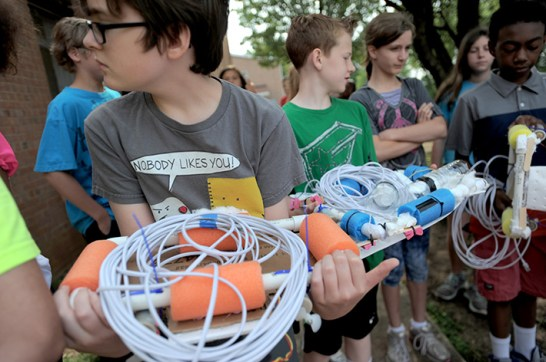 More than 300 students were able to test their machines during the last week of school.