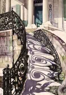Joanne Schempp, Historic Stairs in Winter (Third Place)