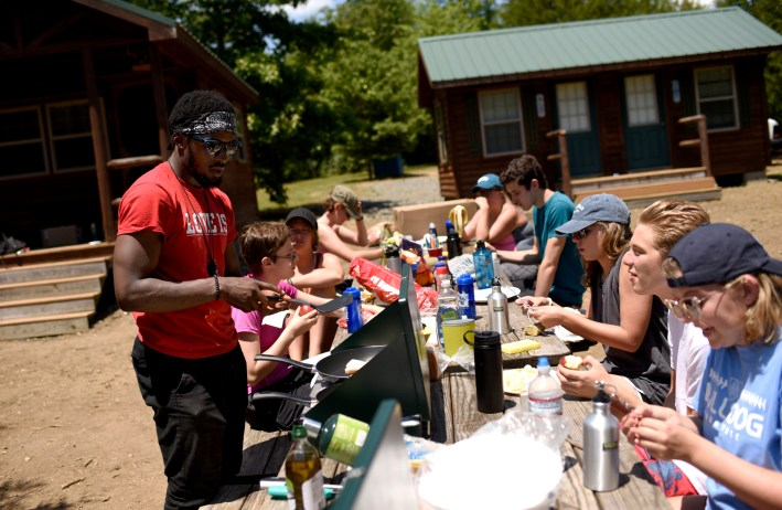Incoming first-year UMW students shared a special Orientation experience at UMW's Eagle Lake Outpost. Photo by Reza A. Marvashti