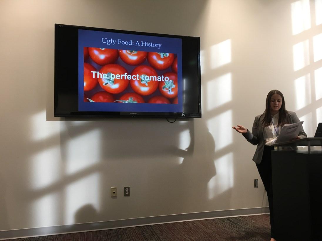 UMW geography student Katie Boston presents.