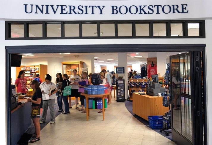 The UMW Bookstore works all summer sourcing used textbooks to keep costs low for students. (Norm Shafer)