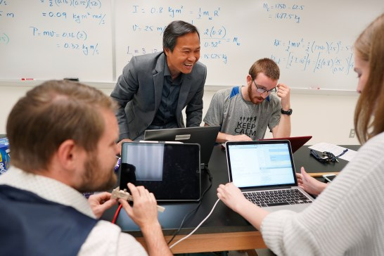 Nguyen's AAAS fellowship is giving him the chance to learn first-hand how government policy is made. He'll bring that insight back to UMW students. Photo by Suzanne Rossi.