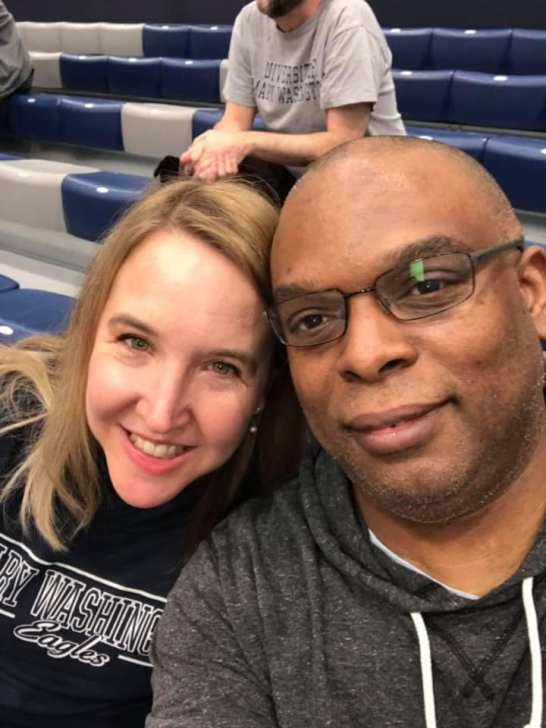 Colette Strawn '97 and Michael Johnson '96 married at Mary Washington in 2002 and recently re-visited campus.