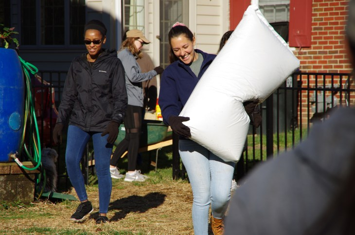 Area residents call on UMW student volunteers to complete various tasks each year during Good Neighbor Day. Photo by Noah Strobel.
