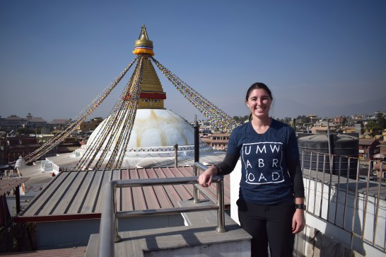 During her time at UMW, Emily Rothstein '18, studied abroad on a faculty-led trip to Guatemala and made two trips to Nepal, where she completed academic research and engaged in service projects. Photo courtesy of Emily Rothstein.