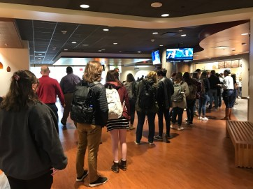 Patrons waited patiently as employees - many of whom are new to Campus Dining - processed their orders.