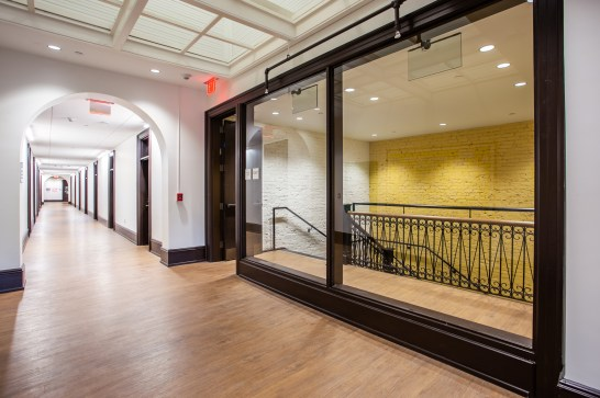 """Willard Hall's fresh look is a """"testament to how committed we are to our future,"""" UMW President Troy Paino told the crowd, while showing respect for what came before. Photo by Craig Hutson, Kjellstrom and Lee Construction."""