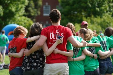 UMW students gather at the 2019 Devil Goat Day last April. Photo by Suzanne Carr Rossi.