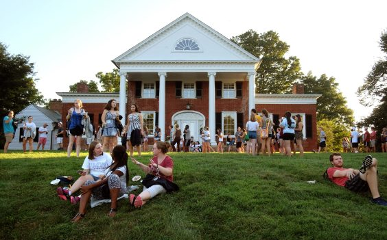 Members of the graduating class began their Mary Washington journeys with an ice cream social at Brompton, the home of President Paino and wife Kelly. Three of them received the prestigious Darden Award, and 58 earned University Honors.