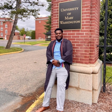 2020 graduate Jeremiah Ward said he's sad to leave Mary Washington, but is excited to return to his alma mater this fall for commencement.