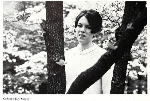 Catherine O'Connor Woteki '69, during her senior year at Mary Washington. A biology and chemistry major, she spent a year working as a student lab assistant in Combs Hall.