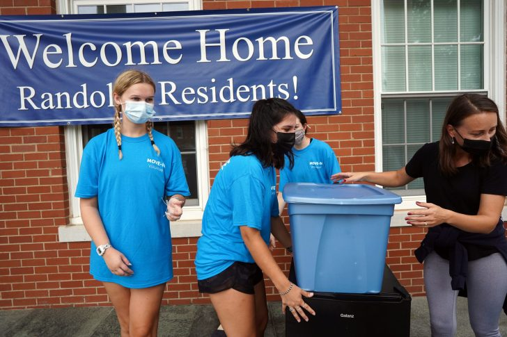 The University of Mary Washington's Fredericksburg campus was abuzz yesterday for Move-In Day, with members of the Class of 2025 arriving from near and far. Photo by Suzanne Carr Rossi.
