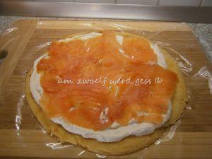 Pfannkuchen - Lachs- Röllchen