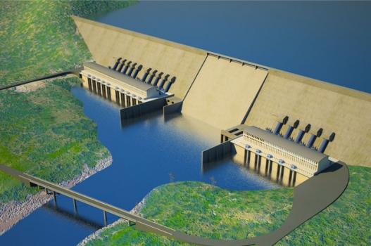 An artist's impression of the Grand Ethiopian Renaissance Dam. Photo: www.grandmillenniumdam.net