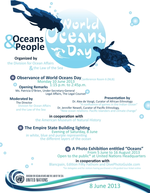 Over the course of four different sessions, children learn about a diversity of marine mammals, their adaptations, and what life is like living under the sea. World Oceans Day