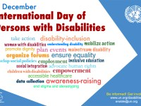 Poster showing keywords related to celebrating the International Day