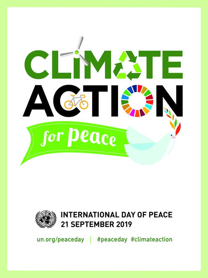 Climate action for peace poster.