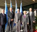 The President was warmly welcomed by UN Vienna officials
