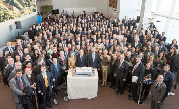 UNGA 70th birthday celebration with cake cutting ceremony