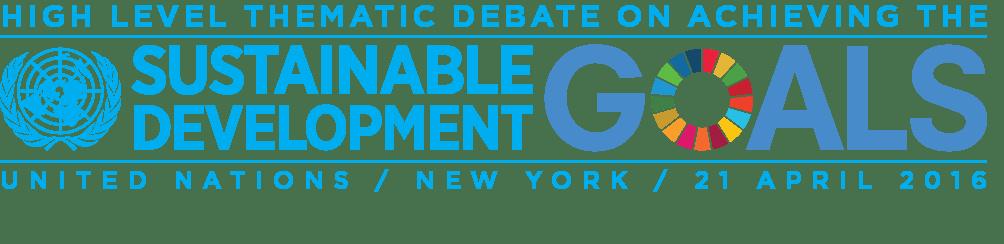 High Level Thematic Debate SDGs Logo