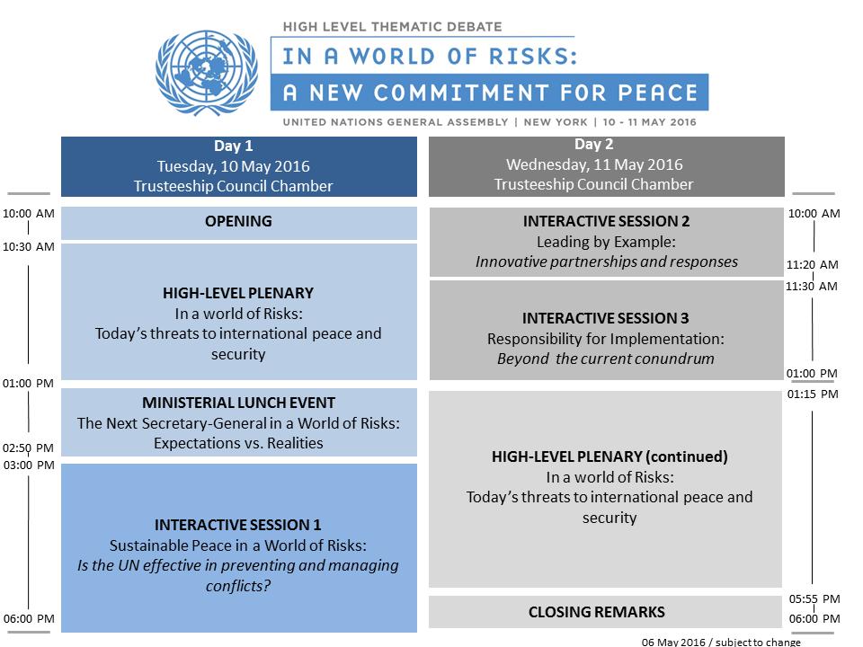 Programme HLTD on UN, Peace & Security