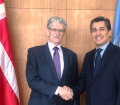 Meeting with new Permanent Representative of Mexico to the UN, Ambassador Juan José Gómez Camacho