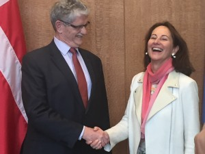 The President of the UN General Assembly met with French Environment, Energy and Sustainable Development Minister Ségolène Royal