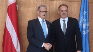 Mogens Lykketoft met with the President of Slovakia