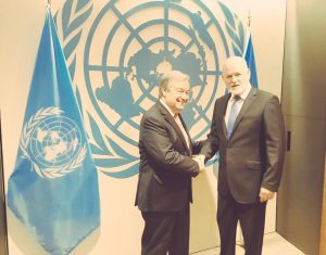 UNGA President & next Secretary-General Guterres before appointment