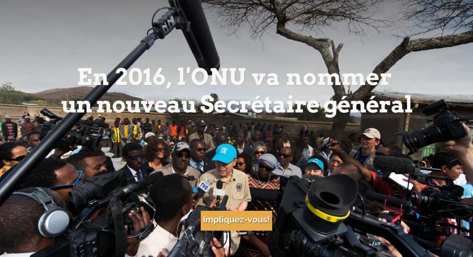 En 2016 l'ONU va nommer un nouveau Secrétaire général