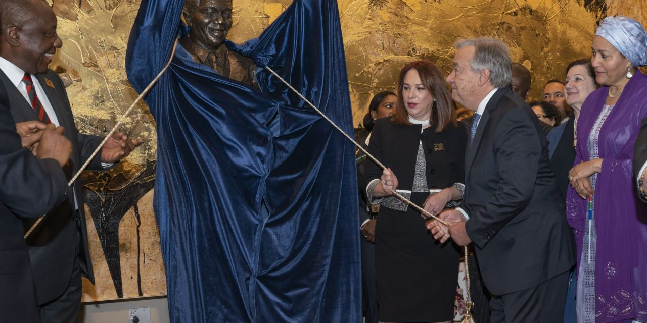 Unveiling of the Mandela Statue