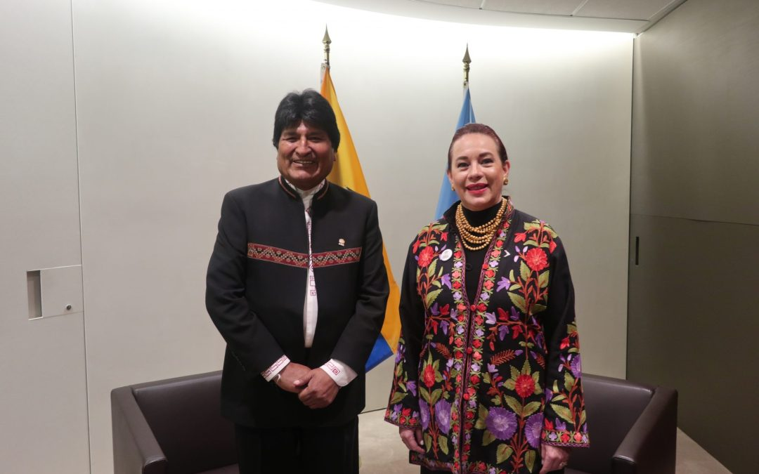 READOUT: meeting with President of the Plurinational State of Bolivia