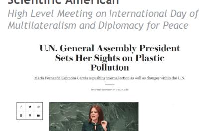 U.N. General Assembly President Sets Her Sights on Plastic Pollution