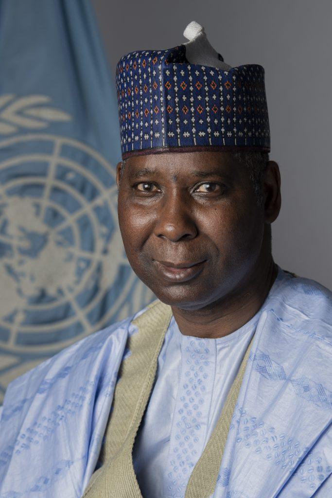 Président AG : Tijjani Muhammad-Bande. ONU Photo/Evan Schneider
