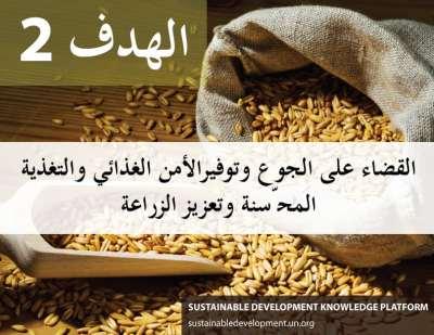 الهدف 2 - القضاء على الجوع وتوفير الأمن الغذائي والتغذية المحّسنة وتعزيز الزراعة المستدامة