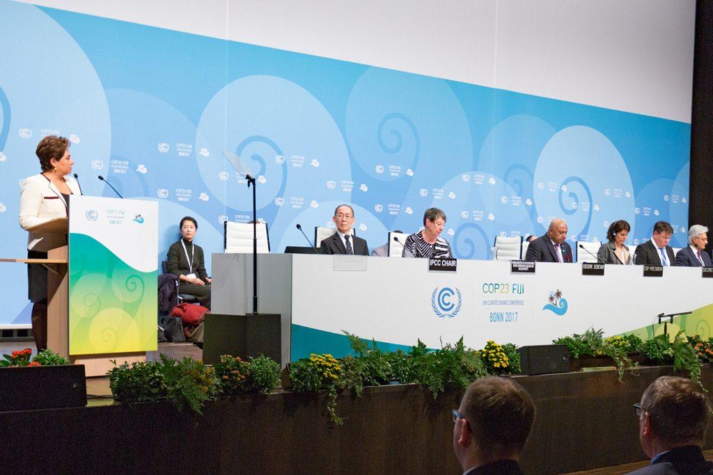 افتتاح النسخة الثالثة والعشرين لمؤتمر الأمم المتحدة لتغير المناخ (COP23)، بمدينة بون الألمانية.