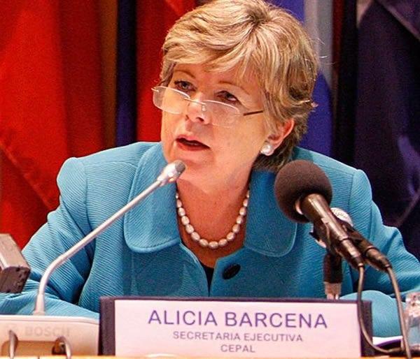 Alicia Bárcena, Secretaria Ejecutiva de la CEPAL. Foto de archivo : ONU