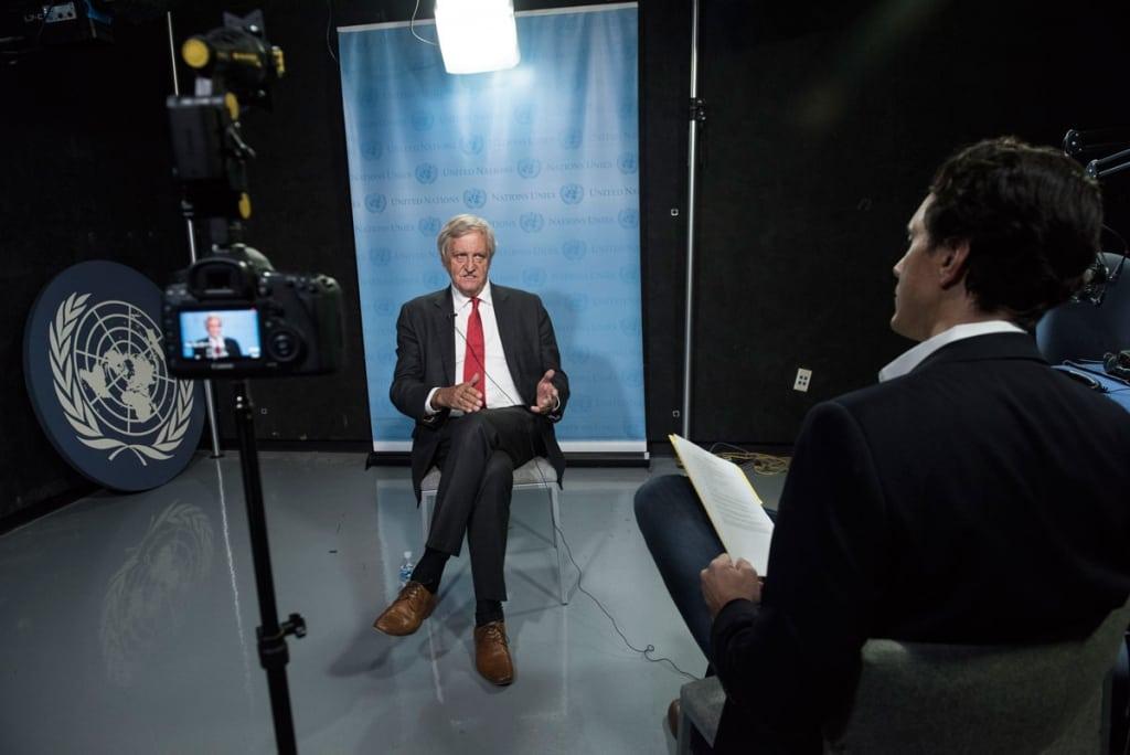 Entrevista del Sr. Nicholas Haysom, enviado especial para Sudán y Sudán del Sur. Foto del Centro de Noticias de la ONU