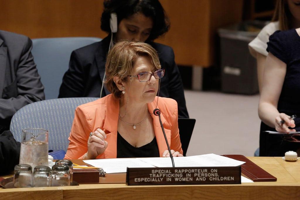 Relatora especial de las Naciones Unidas, Maria Grazia Giammarinaro. Foto: ONU/Evan Schneider