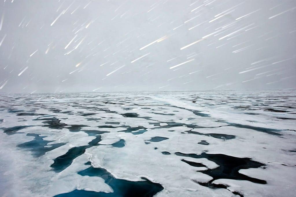 Imagen del hielo en el Ártico tomada en 2009. Foto: ONU/Mark Garten