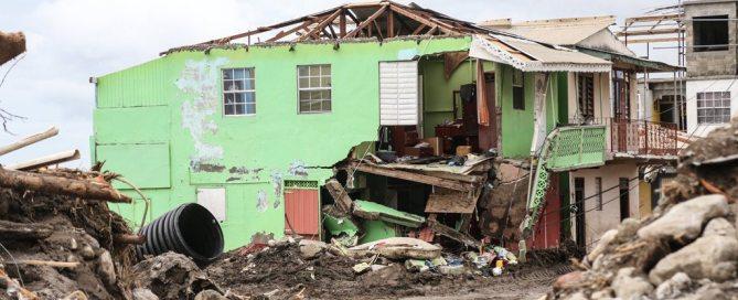 Casa destruida por el huracán Irma en Dominica. Foto: UNICEF/Moreno