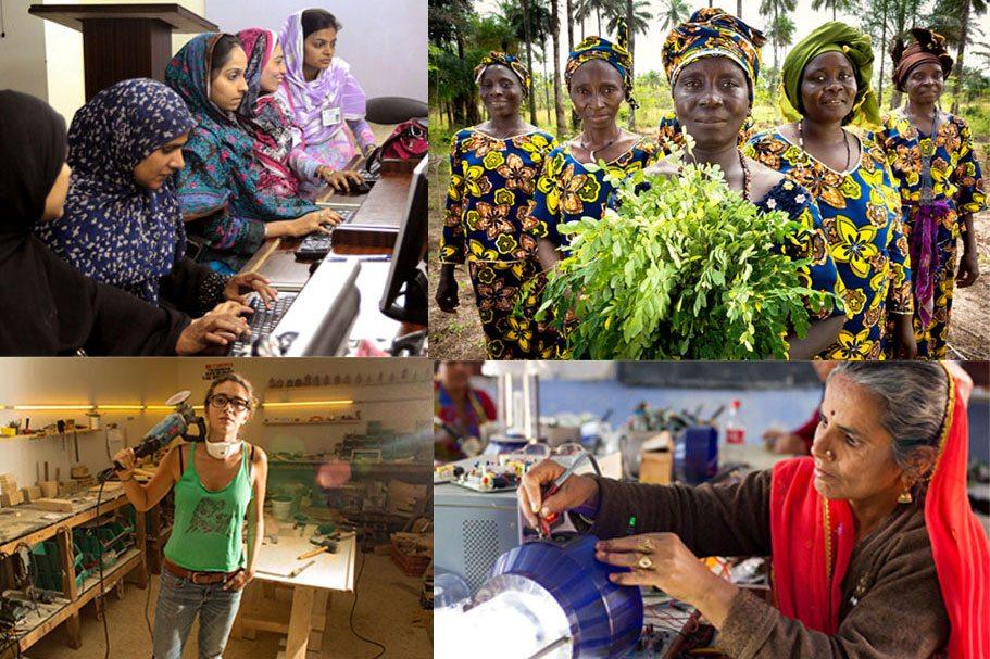 Photo montage de femmes à travers le monde