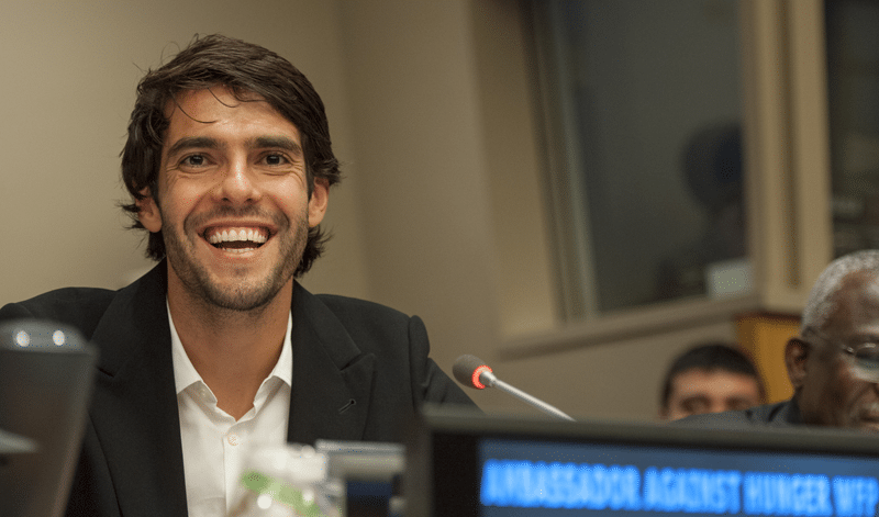 "Kaká, football player and World Food Programme Ambassador Against Hunger, speaks during an event on ""Mobilizing Generation Zero Hunger"". The event was co-organized by the Permanent Mission of Ireland, the Office of the Envoy of the Secretary-General on Youth, the Food and Agriculture Organization of the United Nations (FAO), the International Fund for Agricultural Development (IFAD) and the World Food Programme (WFP). UN Photo/Cia Pal"