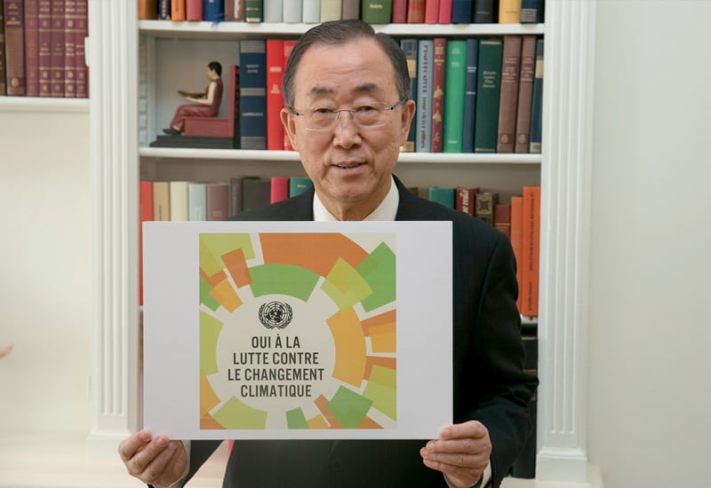 Photo: Mr. Ban at the Climate Summit 2014.