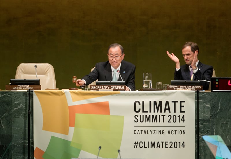 Photo: Mr. Ban hosts the Climate Summit 2014.