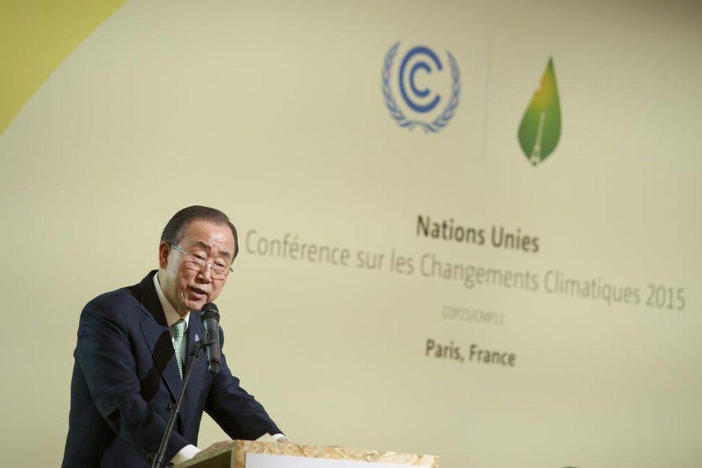 Photo: Secretary-General Ban Ki-moon addresses High-level Meeting on Climate Resilience.