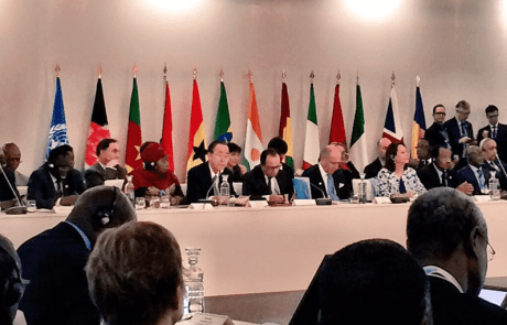 Photo: Ban Ki-moon holds a high-level meeting on climate change with African leaders.