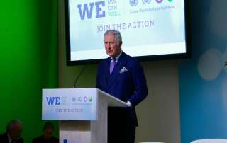 Photo: HRH Prince Charles of Wales speaks at a Lima to Paris Action Agenda Event on Forests.