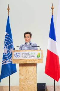 Photo: Christiana Figueres, Executive Secretary of the UN Framework Convention on Climate Change (UNFCCC), addresses the opening of the High-level Segment of the COP21.